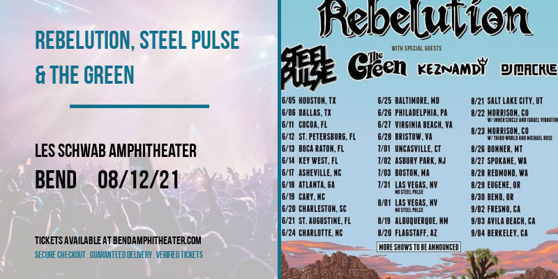 Rebelution, Steel Pulse & The Green at Les Schwab Amphitheater