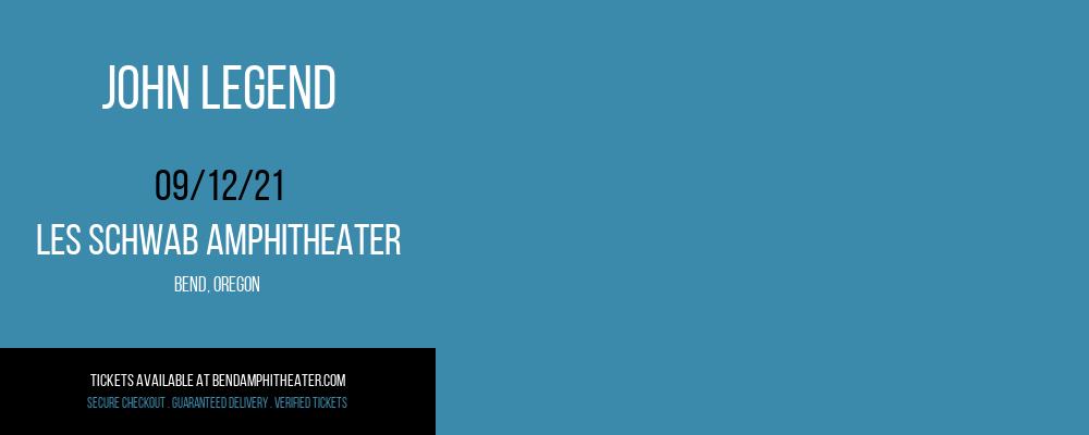 John Legend at Les Schwab Amphitheater