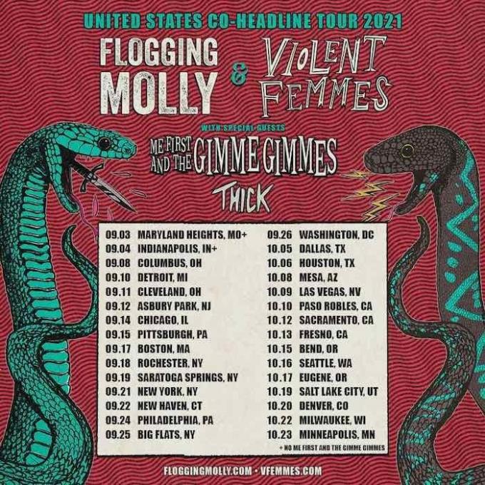 Flogging Molly, Violent Femmes & Thick at Les Schwab Amphitheater